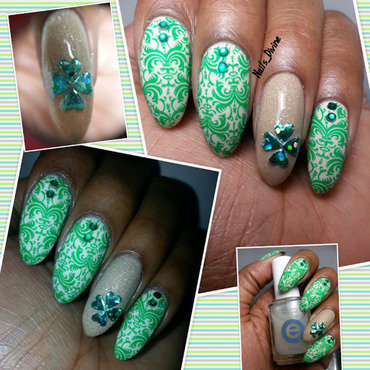 Clover Me nail art by Nails_Divine
