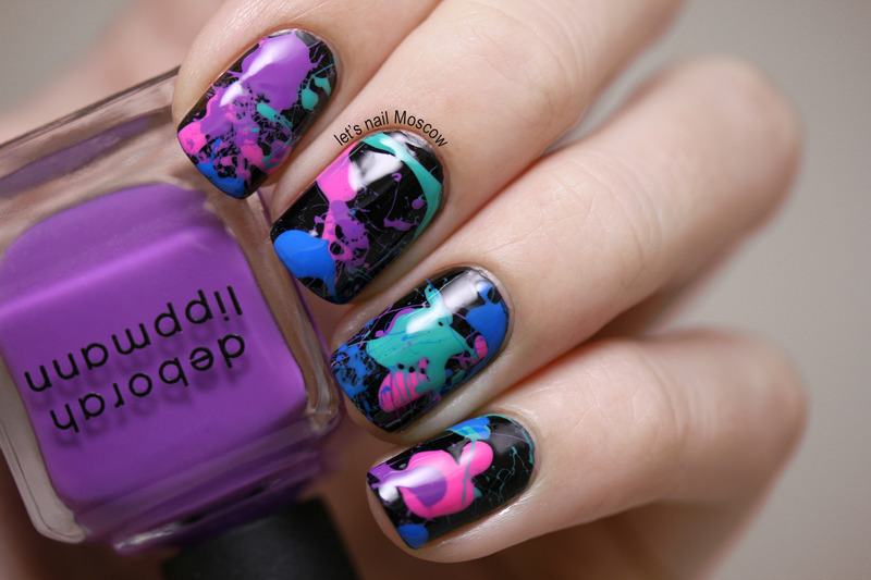 Splatter nails inspired by the 80s nail art by lets nail moscow splatter nails inspired by the 80s nail art by lets nail moscow prinsesfo Image collections