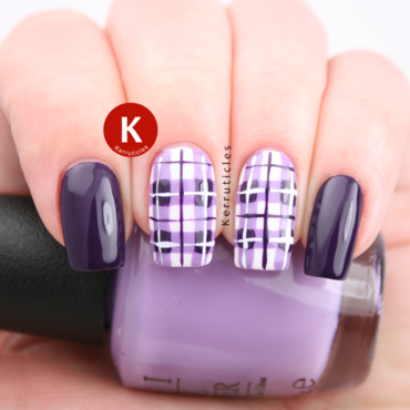 Purple tartan plaid nails opi do you lilac it ig thumb370f