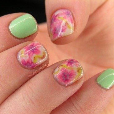 Floral II nail art by Agni
