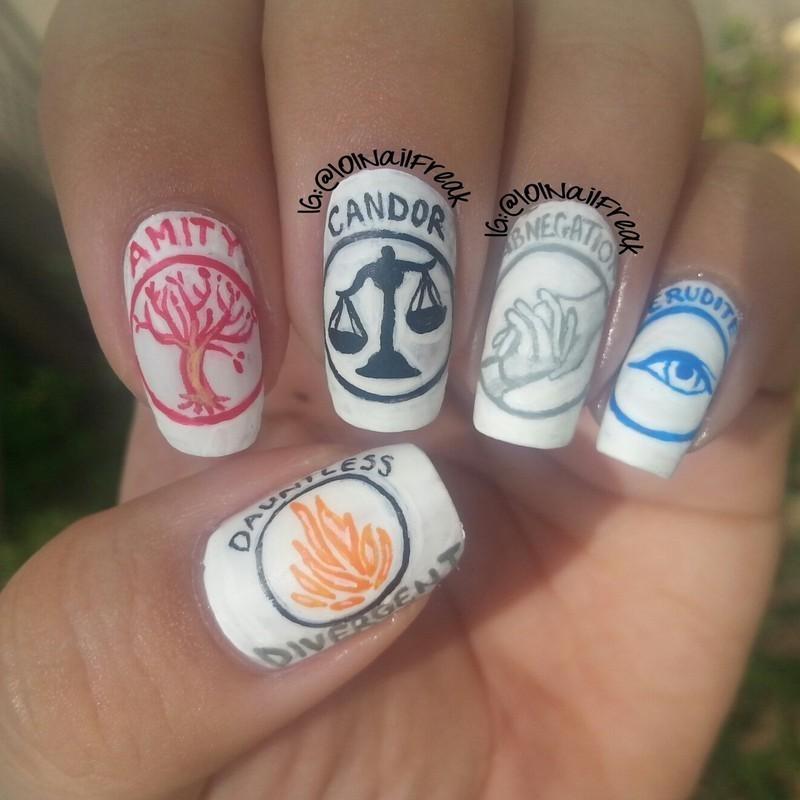 Divergent Nail Art By Selena Lopez Nailpolis Museum Of Nail Art