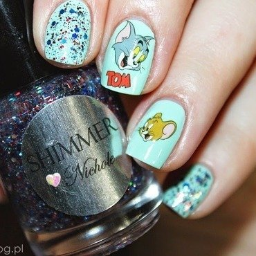 Tom&Jerry  nail art by Amethyst