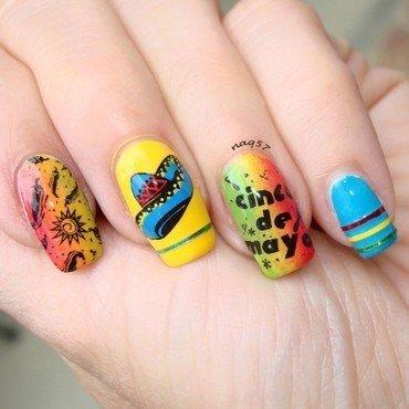 Cinco de Mayo nail art by Nora (naq57)