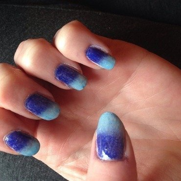 Icing 7th inning stretch and NYX Girls Indigo blue Swatch by Kathleen