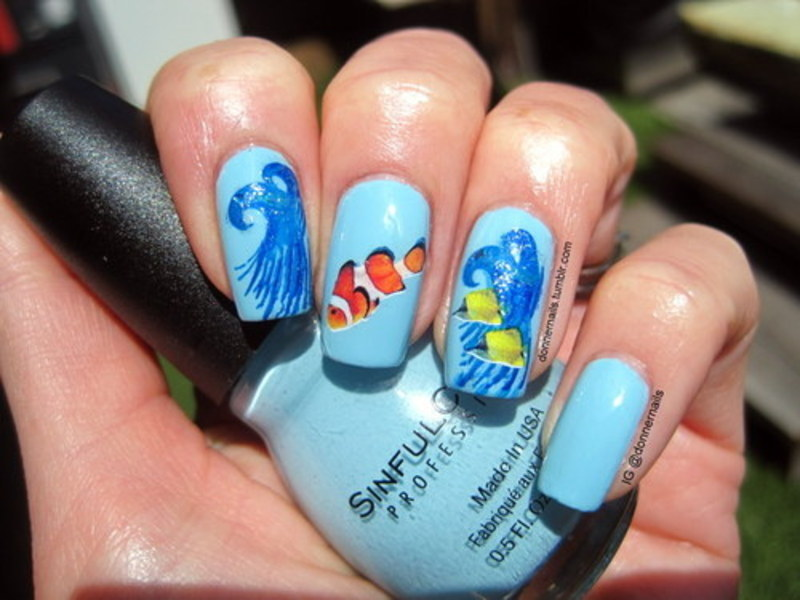 Plenty of fish in the sea nail art by Donner - Plenty Of Fish In The Sea Nail Art By Donner - Nailpolis: Museum Of