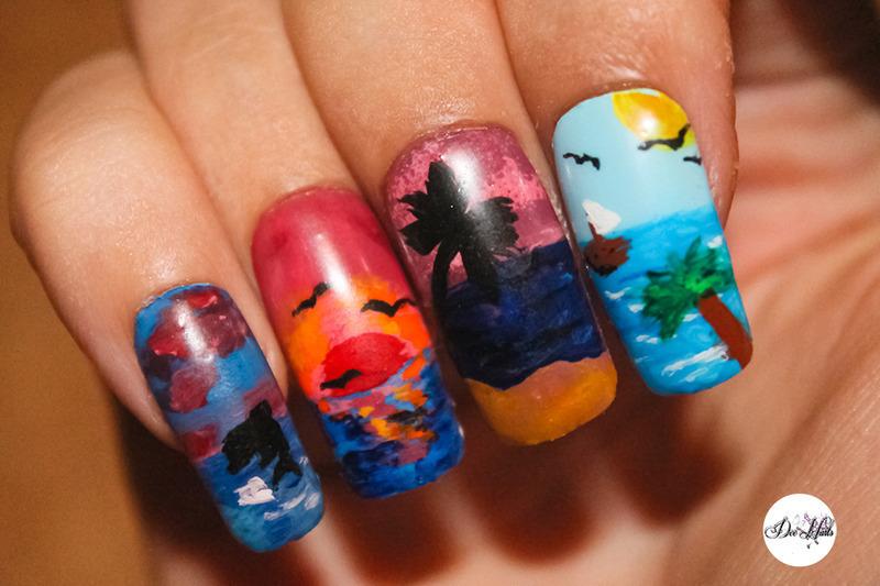 summer nails nail art by Diana Livesay