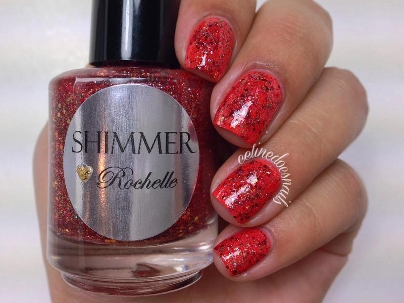 Shimmer Polish Rochelle Swatch by Celine Peña
