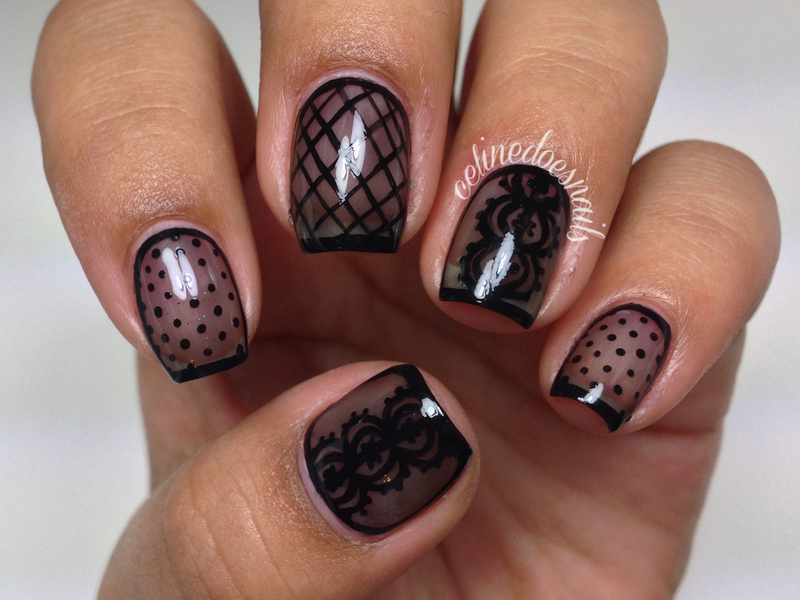 Sheer Black Nail Art Nail Art By Celine Pea Nailpolis Museum Of