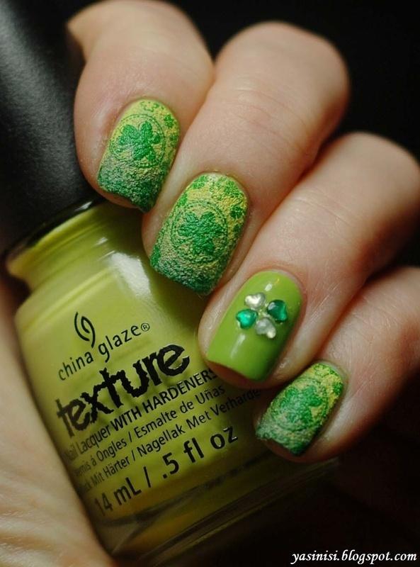 St. Patrick's Day Manicure nail art by Yasinisi