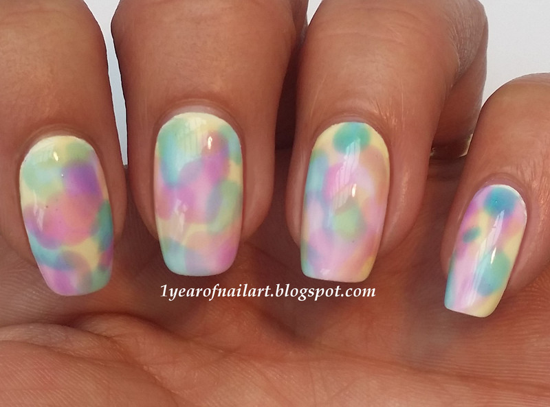 Watercolor nails nail art by Margriet Sijperda