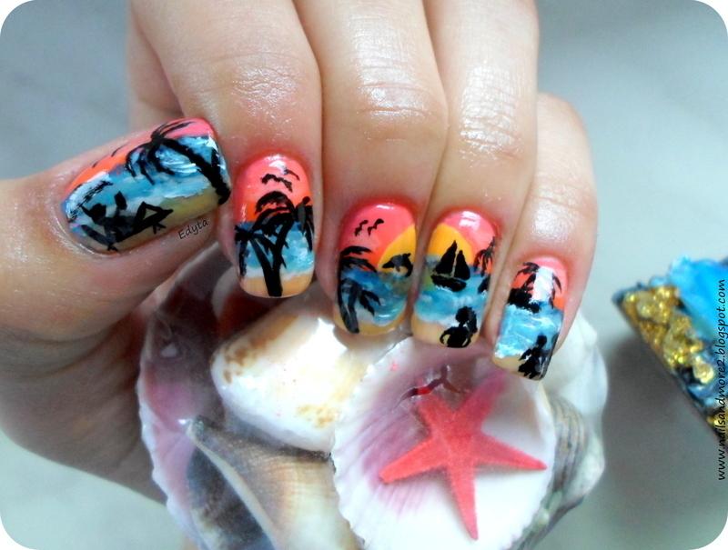 Give me Summer! nail art by Edyta