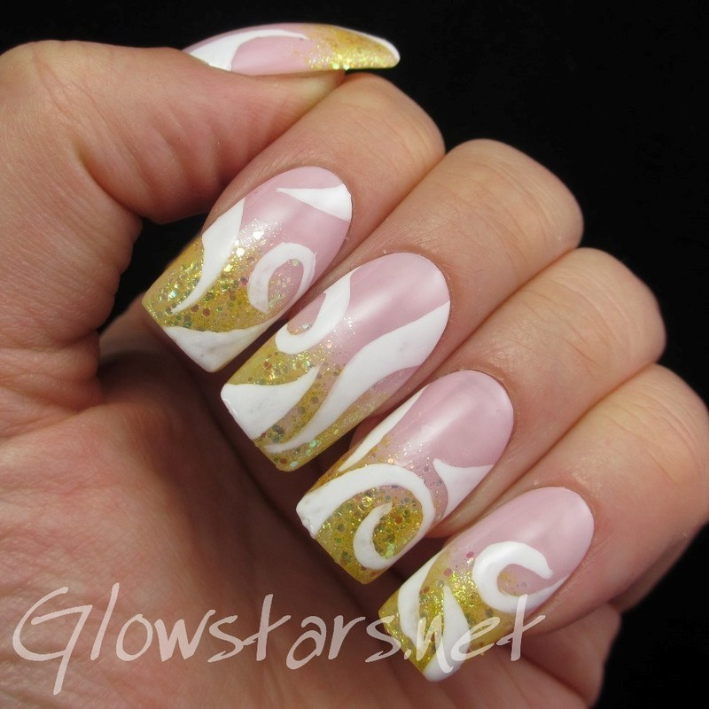 Glitter gradient French nail art by Vic 'Glowstars' Pires