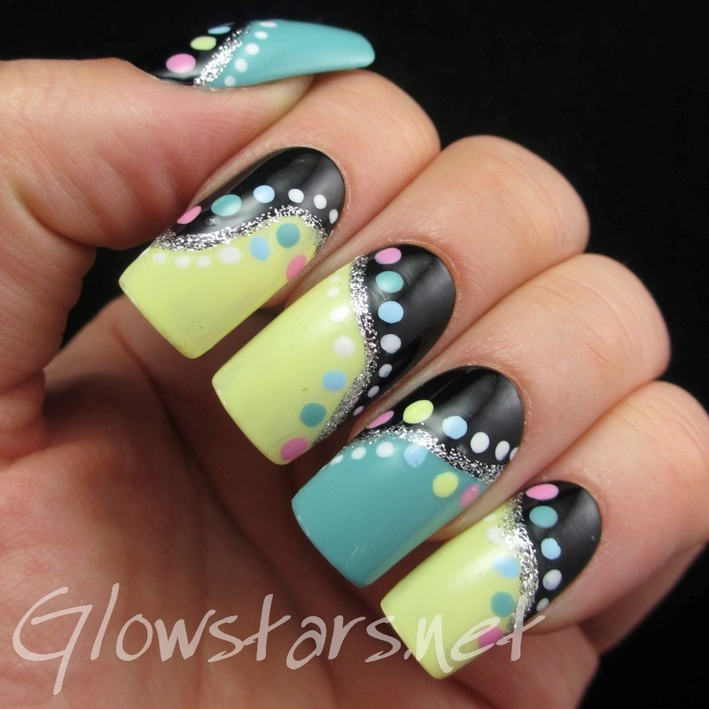 Pastel Dots nail art by Vic 'Glowstars' Pires