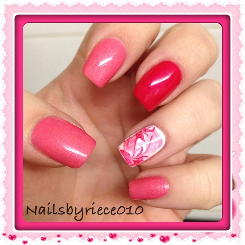 Dry Marble nail art by Riece