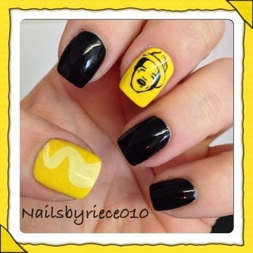 Bruno Mars nail art by Riece