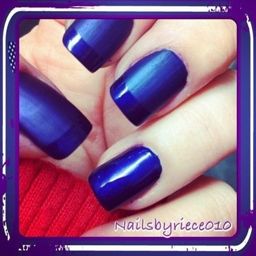 Matte and glossy Tips nail art by Riece