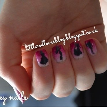 Disney Princess Nail Art with Homemade decals nail art by Kimberley