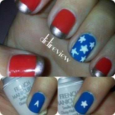 wonder woman nails (simply) nail art by Didi didireview