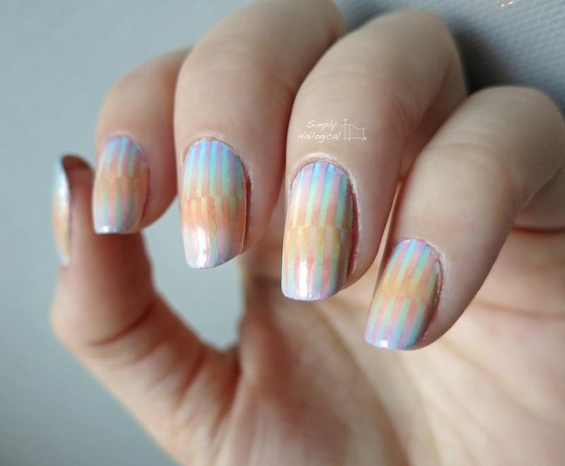 Interlocked reciprocal gradient nail art by simplynailogical