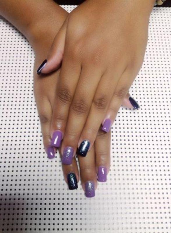 material girl nail art by Vanessa Nesbitt