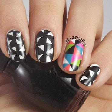 Modern Triangles nail art by  Vanesa