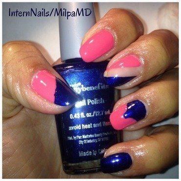 Blue Me Wild  nail art by Milpa  InternNails