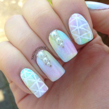 Easter pearl mani nail art by NailThatDesign