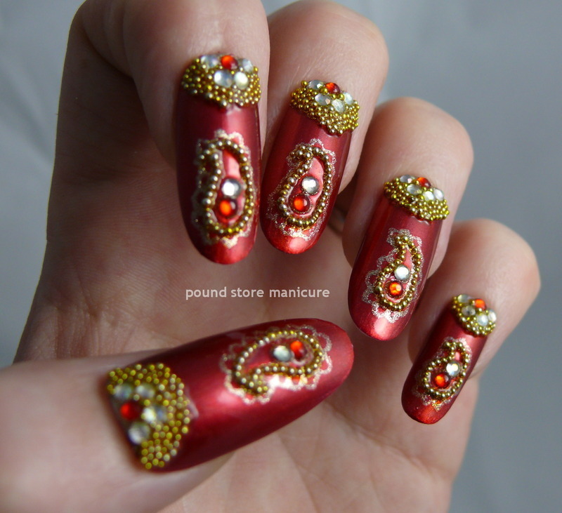 Bollywood glam nail art by pound store manicure nailpolis bollywood glam nail art by pound store manicure prinsesfo Image collections