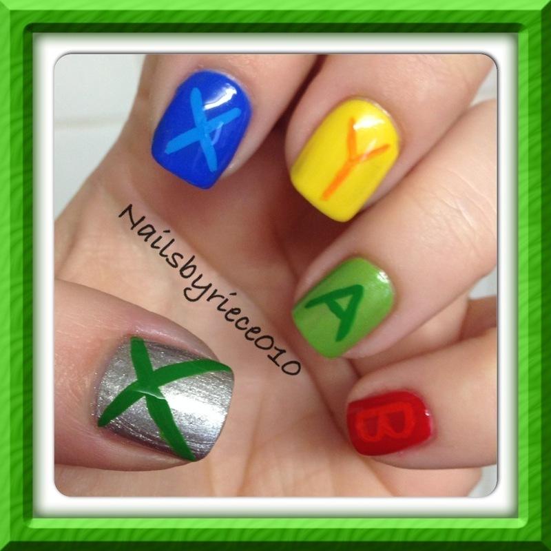 Xbox gamer nails nail art by riece nailpolis museum of nail art xbox gamer nails nail art by riece prinsesfo Images