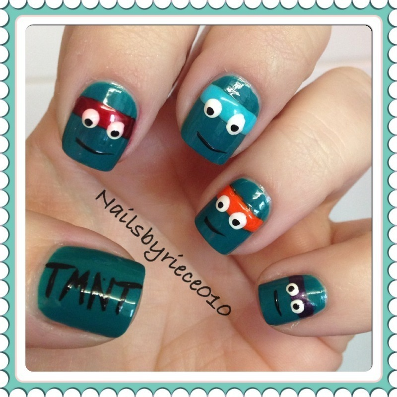 Teenage Mutant Ninja Turtles nail art by Riece - Nailpolis: Museum ...