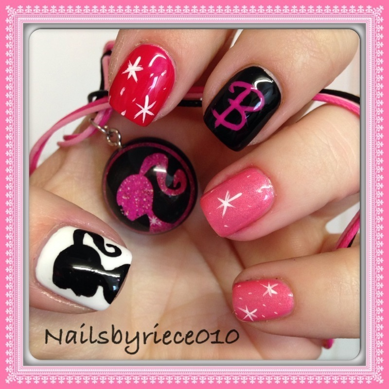 Barbie nail art by Riece
