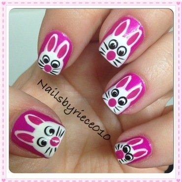 White Rabbits nail art by Riece
