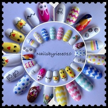 Easter Nail Wheel nail art by Riece