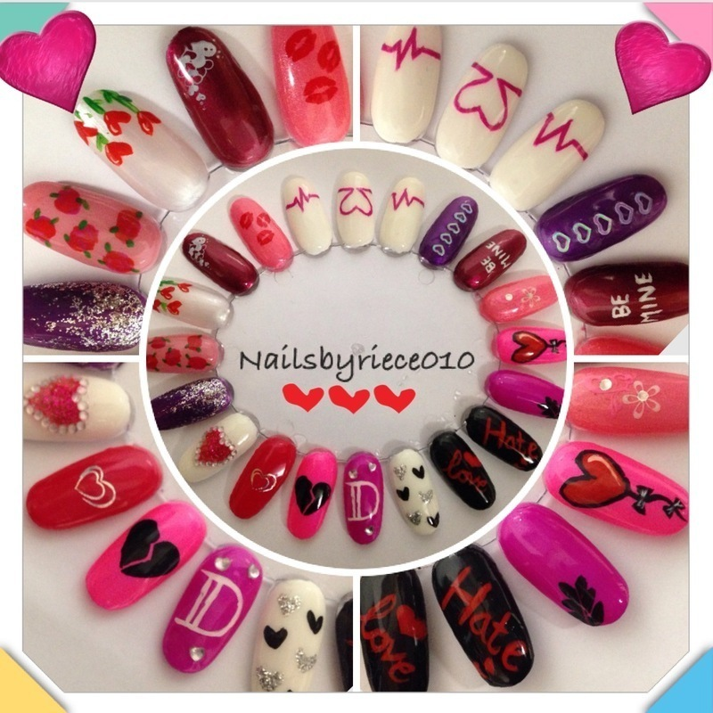 Valentines Nail wheel nail art by Riece