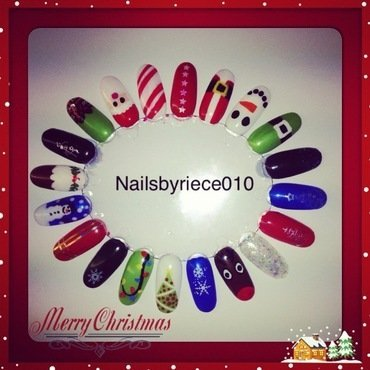 christmas nail wheel nail art by Riece