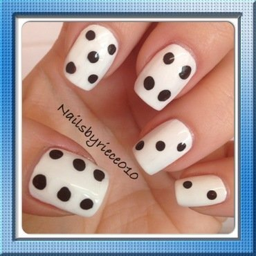 Dice nail art by Riece