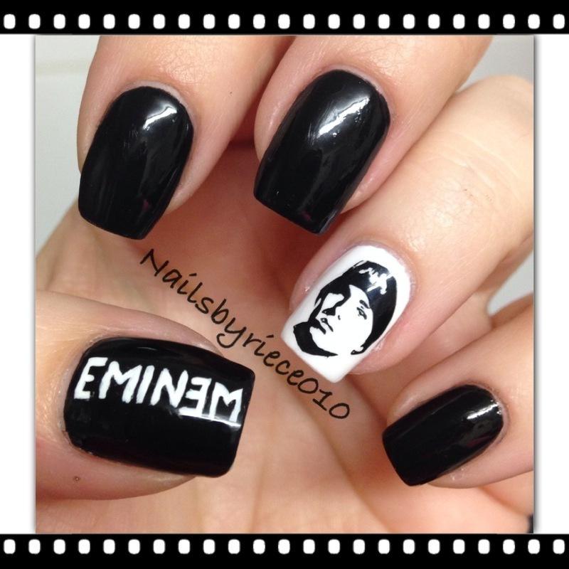 EMINEM nail art by Riece