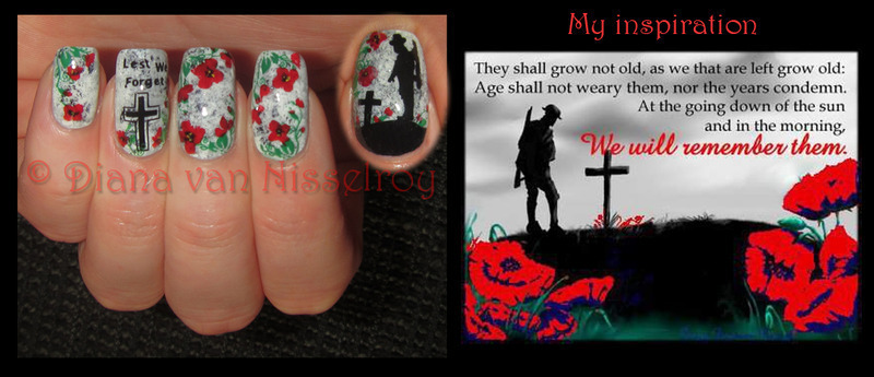 Remembrance/ ANZAC  Day with inspiration nail art by Diana van Nisselroy