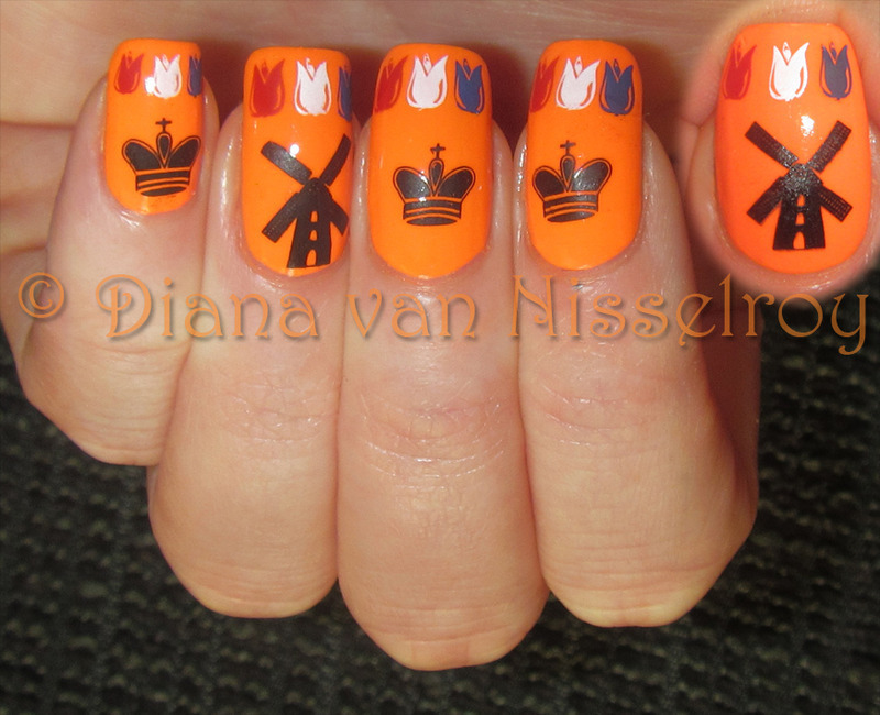 Kingsday nail art by Diana van Nisselroy