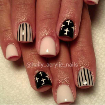 cross her out nail art by Haily Velez