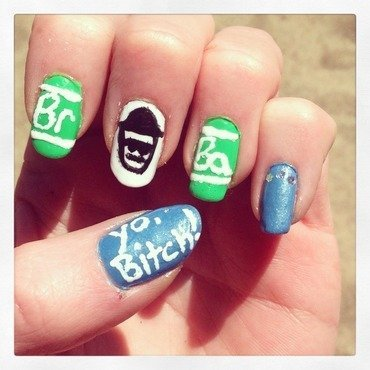 Breaking bad  nail art by Kathleen