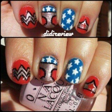 wonder woman nail art nail art by Didi didireview