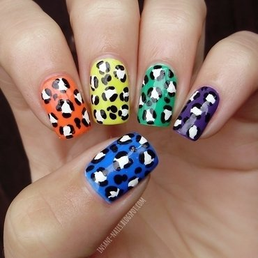 Skittle leopard nails 1 thumb370f