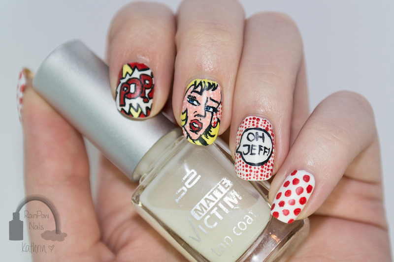 Pop Art Comic Nail Art By Kathrin Nailpolis Museum Of Nail Art