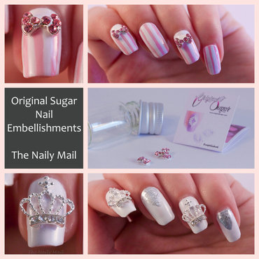 Original Sugar Nail Embellishments nail art by The Naily Mail