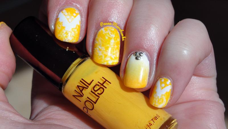 summer nails nail art by Panna Marchewka