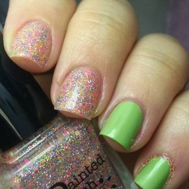 Sinful Colors Pistache and Painted Polish aurora Swatch by christy vasquez