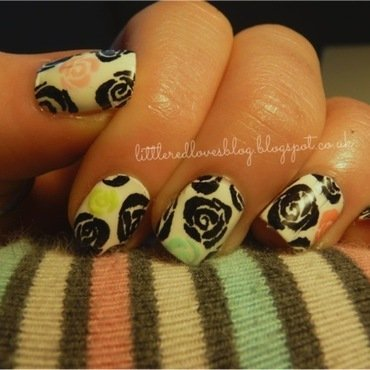 PP Inspired by another member nail art by Kimberley