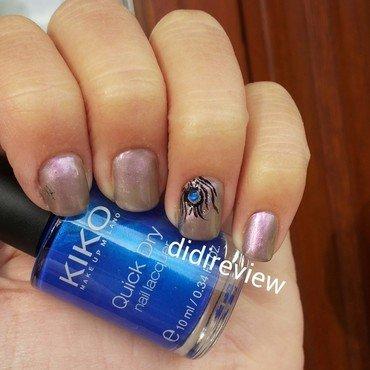 piuma di pavone  nail art by Didi didireview