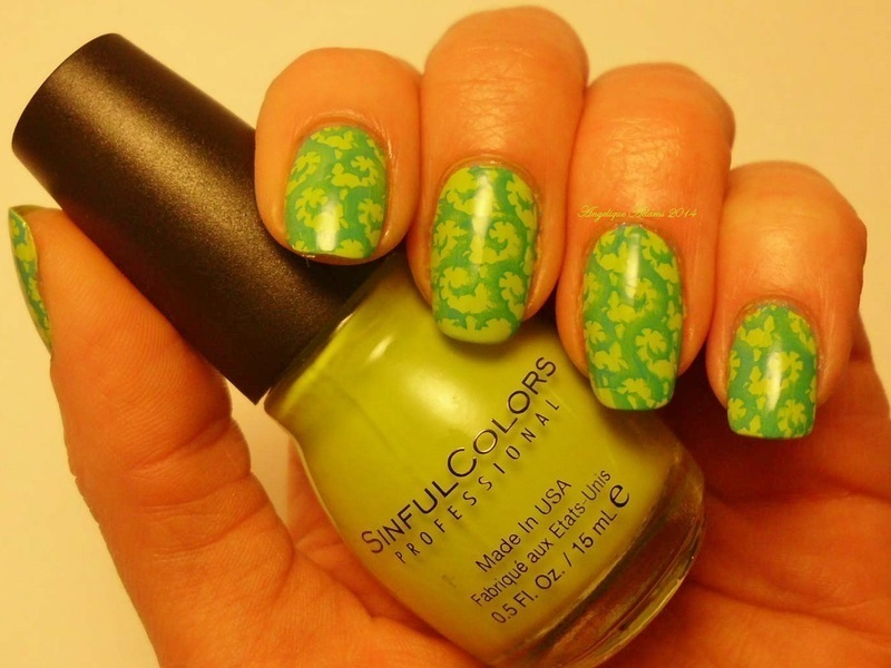 Vines nail art by Angelique Adams